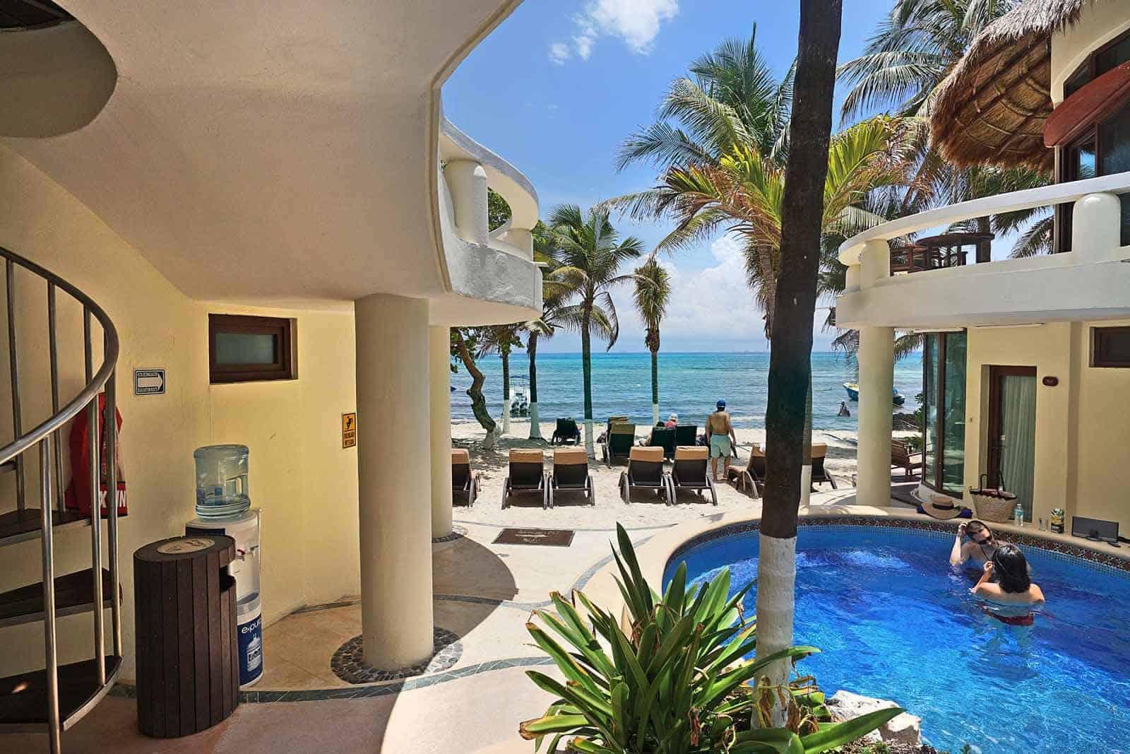 Playa Palms pool to beach