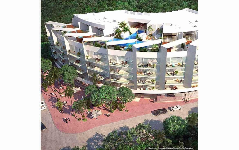 Miranda facade faces the Caribbean Sea