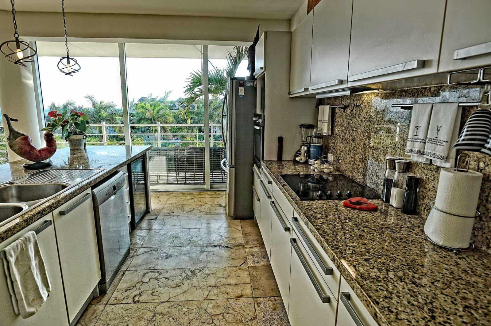 Magia penthouse kitchen with a spectacular view