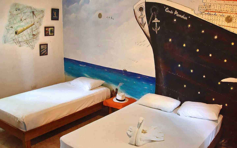 Hotel Casa Tucan interior wall murals