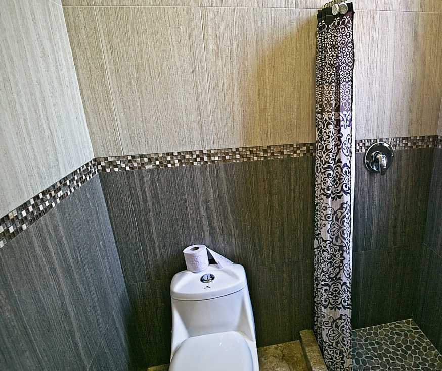 bathroom #2 with toilet and shower room