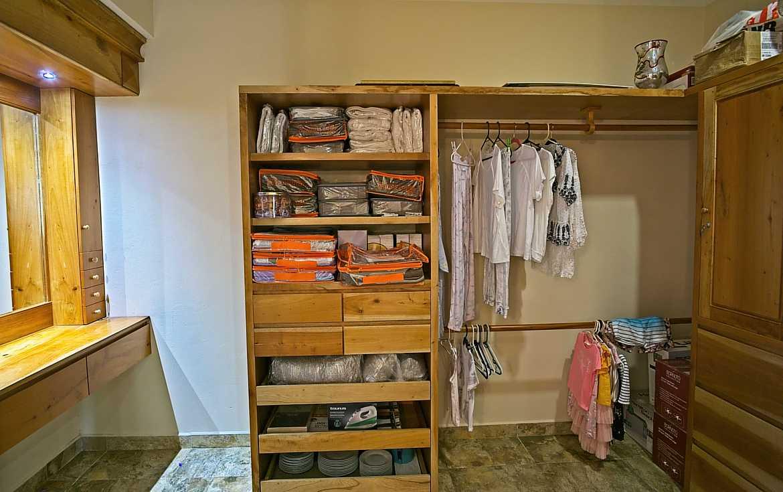 Bedroom #1 walk-in closet and dressing room