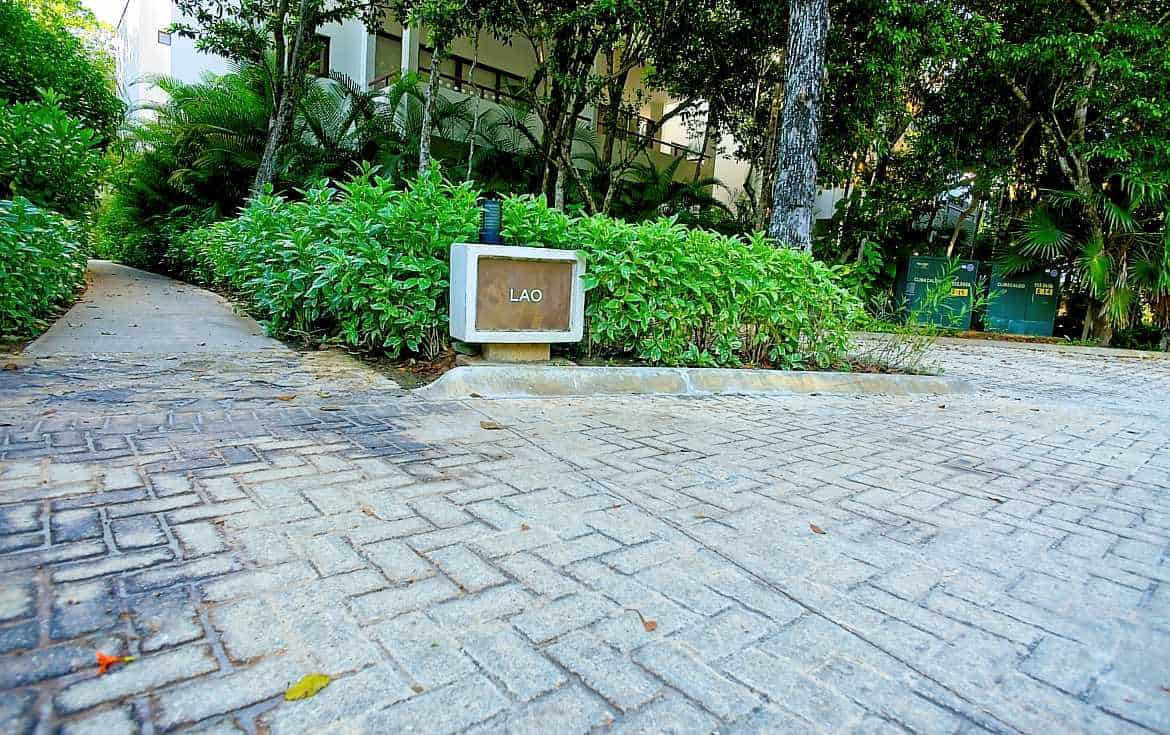 Park steps from your residence.