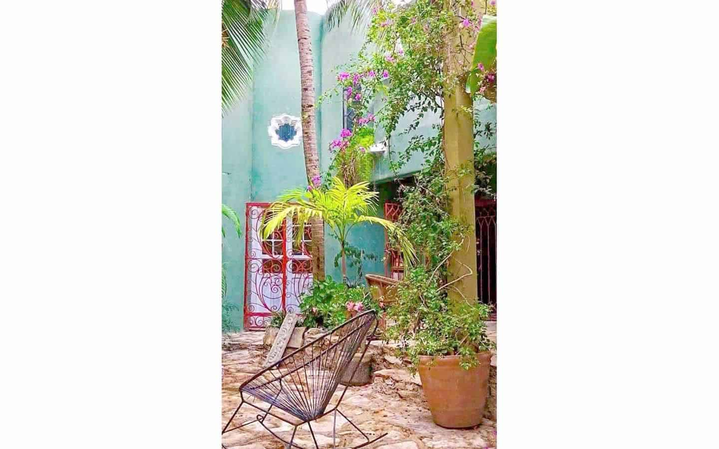 Garden tranquility and color