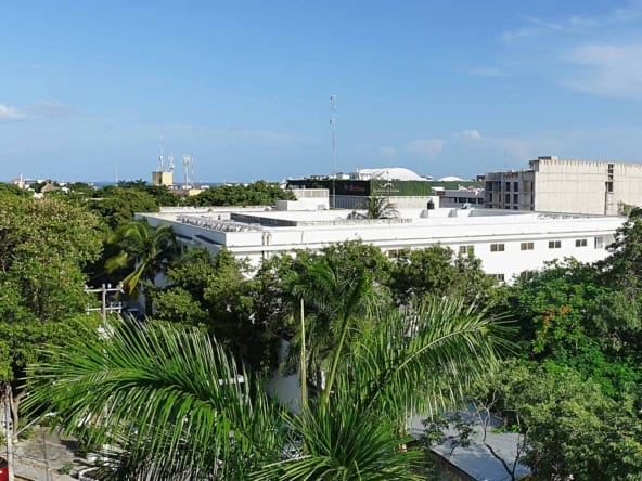 Casa Blanca D3 rooftop view of the Caribbean